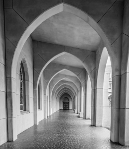 Arches to Door BW