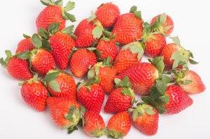 Fresh Strawberries on White Counter