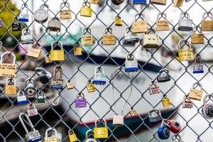 Locks on Chain Link Fence
