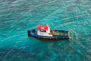 Red White and Blue Pilot Boat