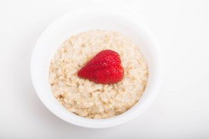 Fresh Strawberry in Hot Oatmeal