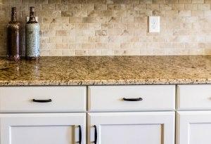 Granite Countertop and Tile Backsplash