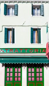 Green and Red Trattoria in Burano
